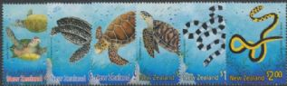 NZ SG2386-91 Chinese New Year (Year of the Snake) Marine Reptiles set of 6